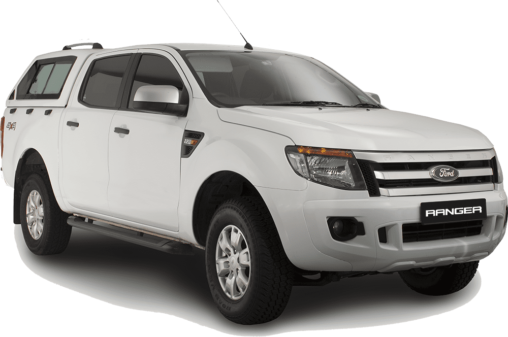 ford ranger white png with shadow