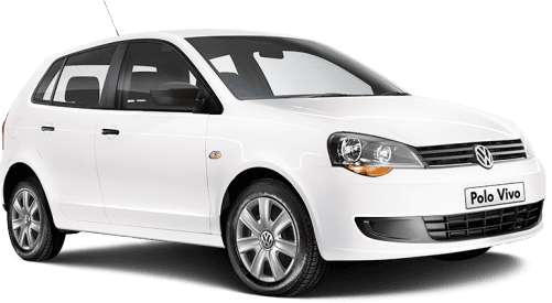 polo vivo vw white hatchback